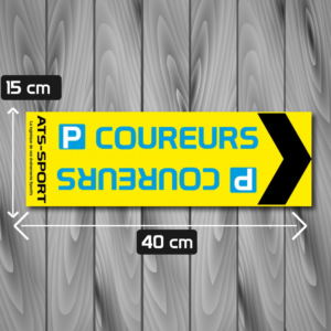 Signalétique parking coureurs