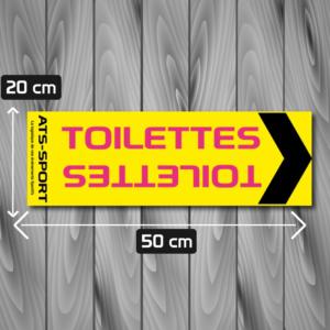signalétique xxl toilettes